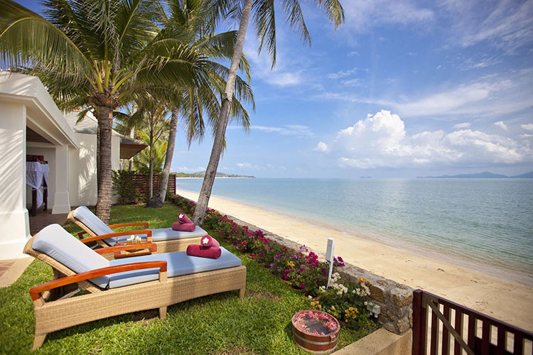 Villas on the beach in Koh Samui