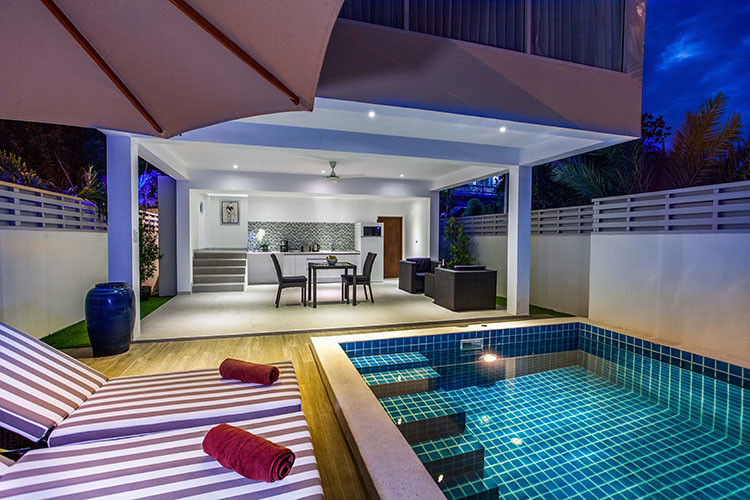 Beachfront villas in Koh Samui