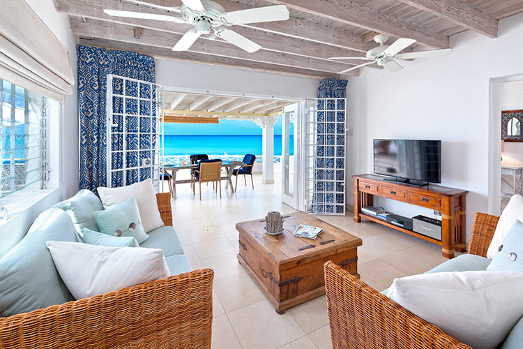 Beachfront villas in the Caribbean
