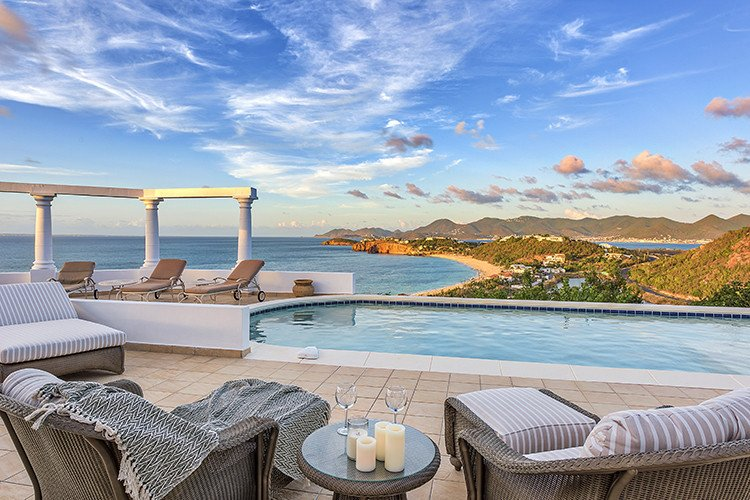 Private villas in the Caribbean